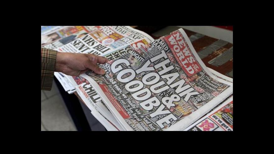 Video Clooney zfilmuje skandál v britských médiích