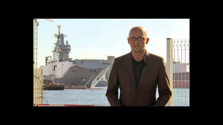 Video Francie zastaví dodávky lodí Rusku