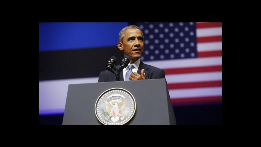 Video Obama v Estonsku: Malé země nesmí terorizovat větší sousedi