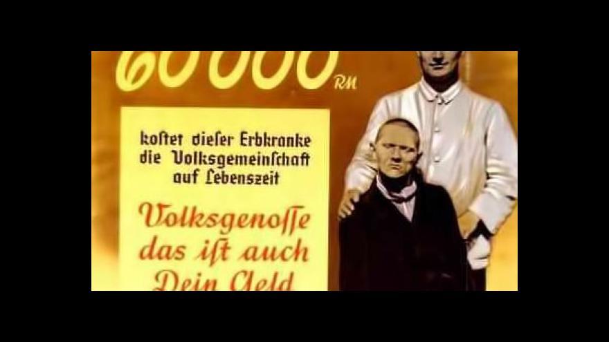 "Video Pavel Zeman k nacistickému programu ""eutanazie"""