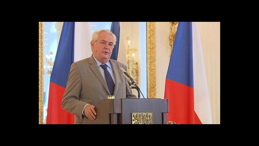 Video Projev prezidenta Miloše Zemana k diplomatům