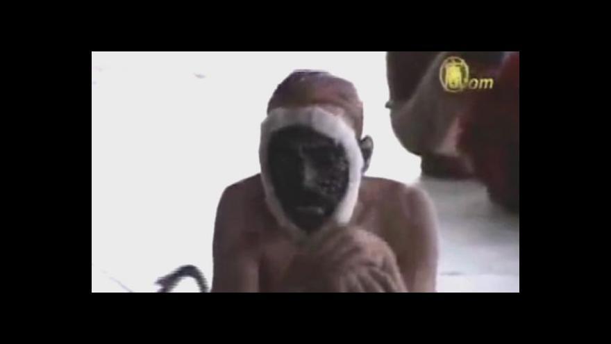Video Rozháněči makaků v Novém Dillí se převlékají za opice