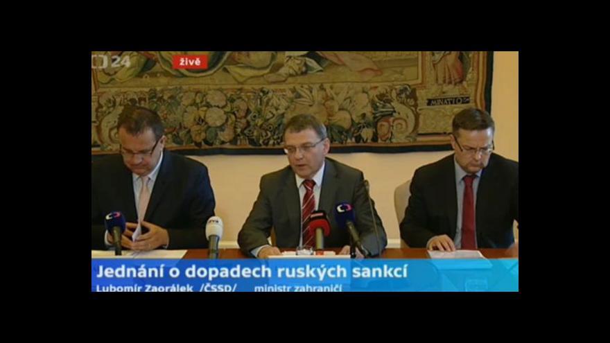 Video Zaorálek o sankcích: Ministerstvo je připraveno hledat alternativy exportu