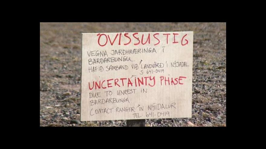 Video Islandskou sopku probudily otřesy pod ledovcem