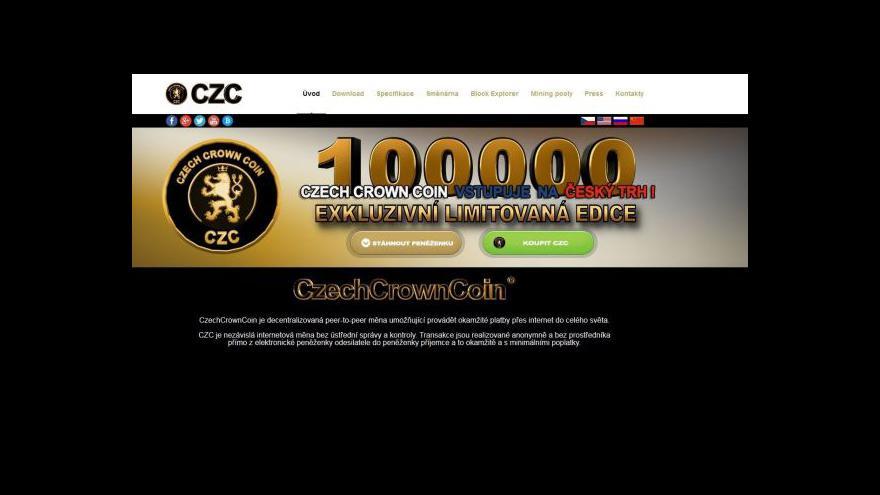 Video Czech Crown Coin vstupuje na český trh