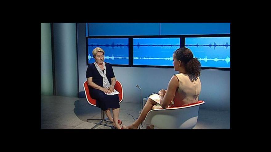 Video Oksana Pelenská v Interview ČT24