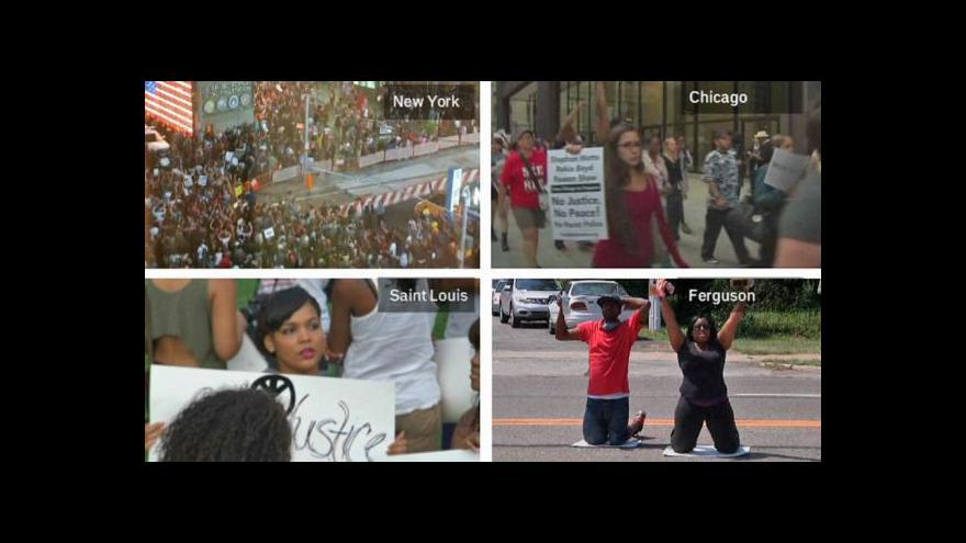 Video Rasové protesty se šíří po celých USA