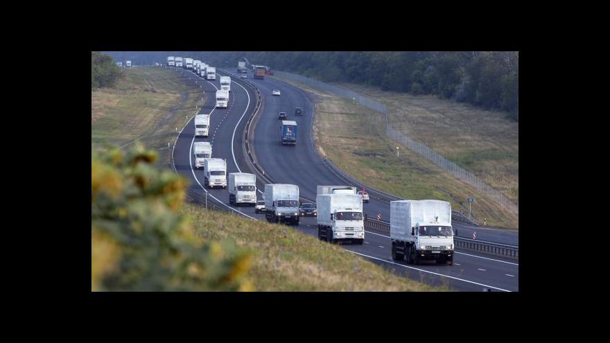 Video Ruský konvoj už je u hranic