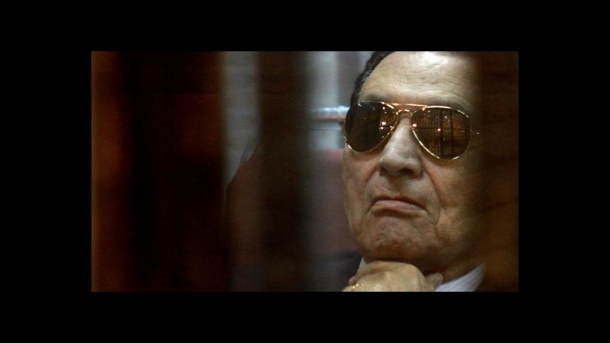 Video Exprezident Mubarak promluvil u soudu