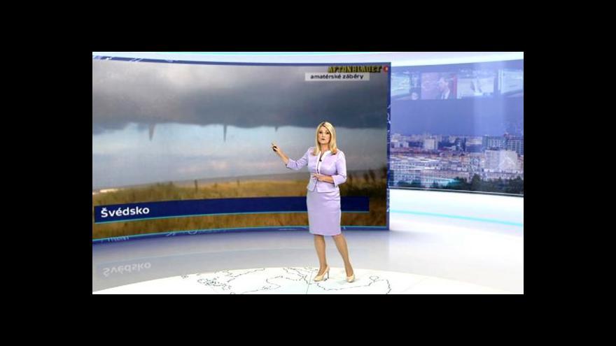 Video Taťána Míková a počasí v Evropě