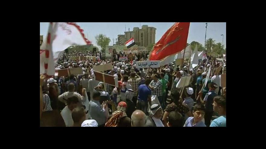 Video Milice věrné Málikímu obsadily Bagdád