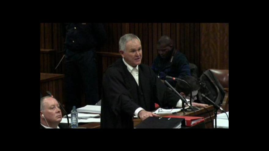 Video Podle obhajoby Pistorius trpěl pocity úzkosti a nebezpečí