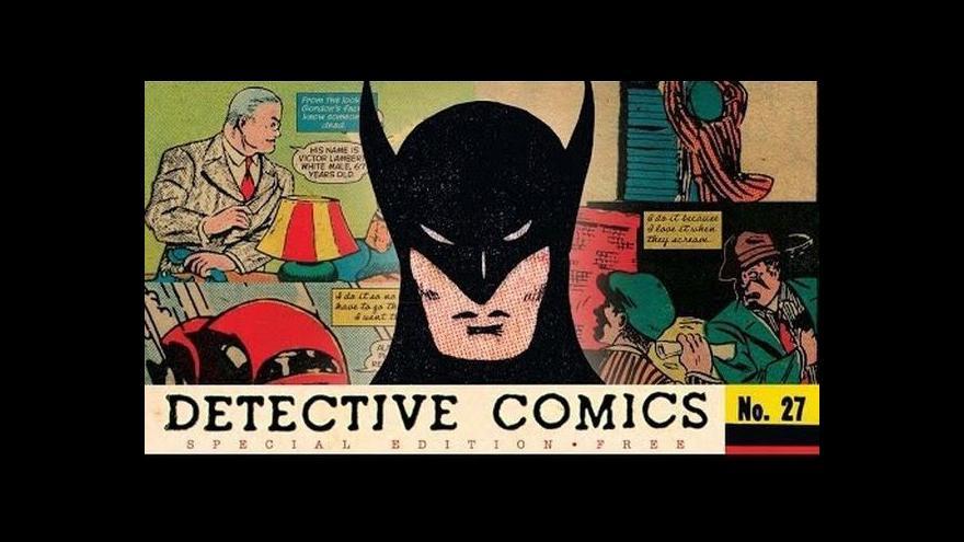 Video Komiks Batmana, který vlastnil Kane, je v aukci