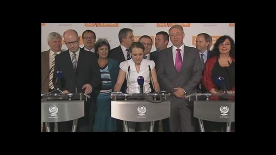 Video ČSSD představila výsledky vnitrostranického referenda