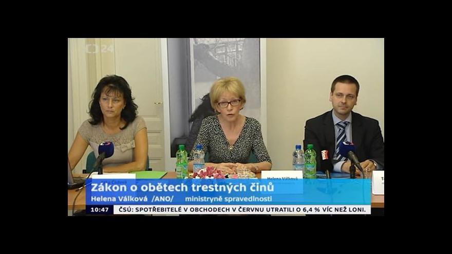 Video TK k zákonu o obětech trestných činů