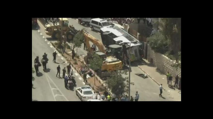 Video Jeruzalém: Údajný teroristický útok, který chtěl spáchat řidič stavebního stroje
