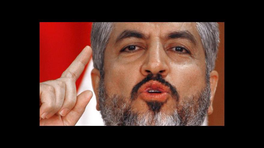 Video Vůdce Hamasu Mišál: Zbraně si vyrábíme sami v Gaze