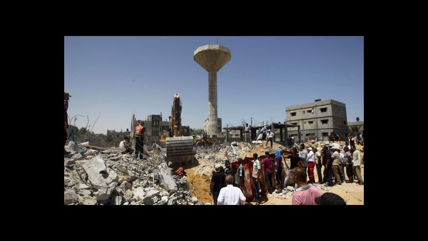 Video Egyptu se podařilo vyjednat třídenní klid zbraní v Gaze