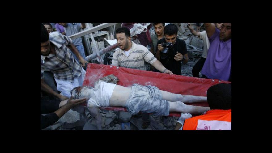 Video Rafáh pod izraelskou palbou, děti umírají