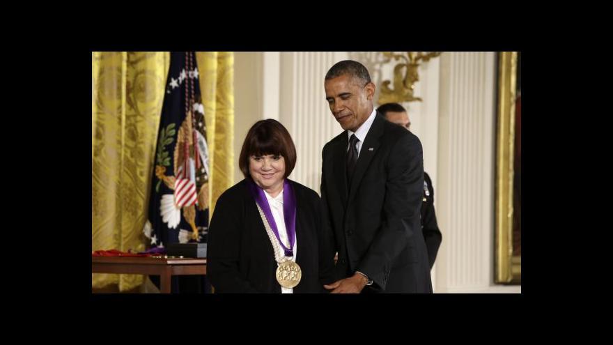 Video Bílý dům předával medaile osobnostem kulturního života