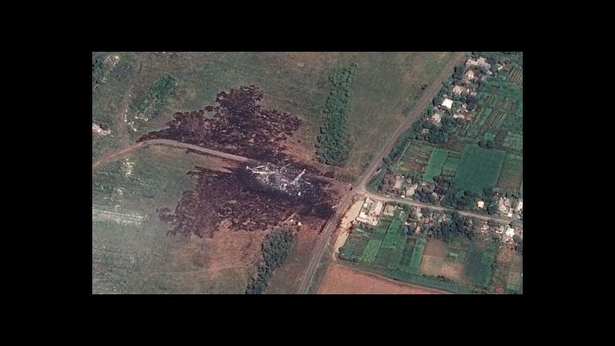 Video Experti opět nepronikli k místu zřícení letounu