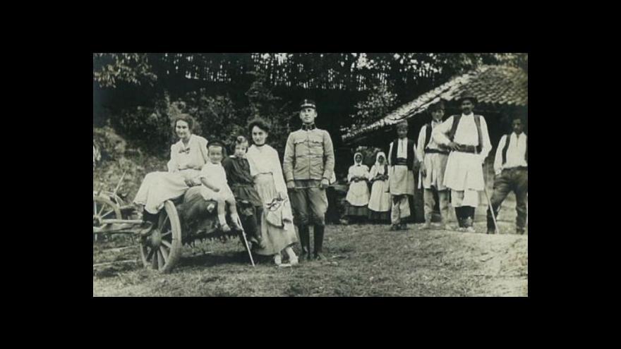 Video Snímky Čechů ze srbské fronty