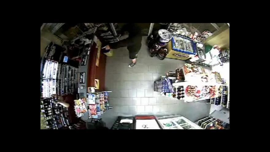 Video Video z přepadení benzinové stanice
