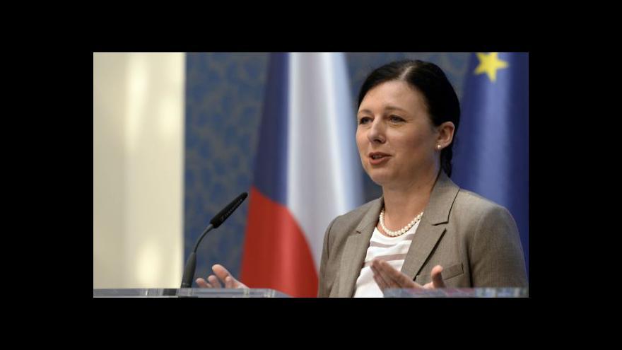 Video Vláda schválila kandidaturu Jourové na eurokomisařku