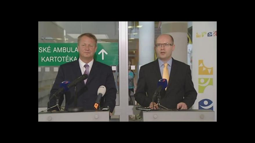 Video Tisková konference Bohuslava Sobotky a Svatopluka Němečka