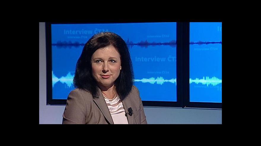 Video Jourová: Šance na dobré portfolio v komisi je stále vysoká
