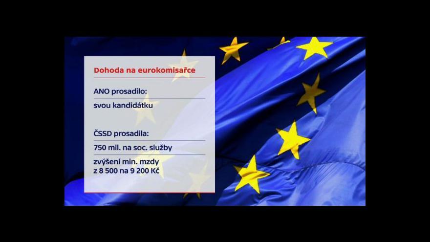 Video Koaliční shoda: Do EK půjde Jourová