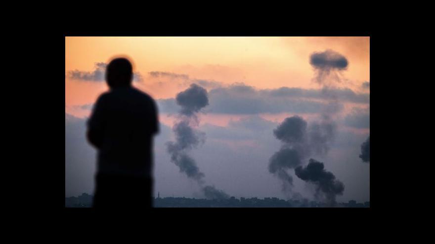 Video Izraelské tanky ráno znovu ostřelovaly vojenské cíle v Pásmu Gazy