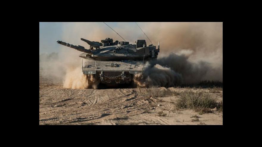 Video Izraelské síly dnes pokračují v ofenzívě v Pásmu Gazy