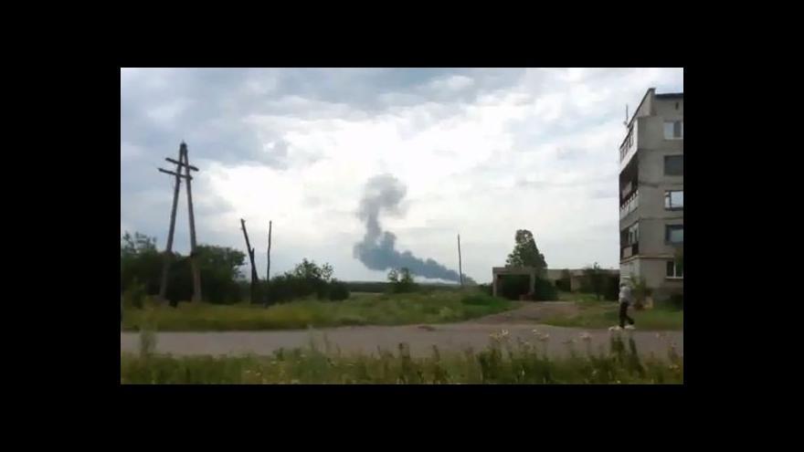 Video Záběry LifeNews z místa havárie letadla