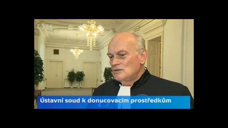 Video Soudce zpravodaj Jan Musil o donucovacích prostředcích