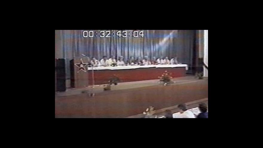 Video Projev Miloše Jakeše