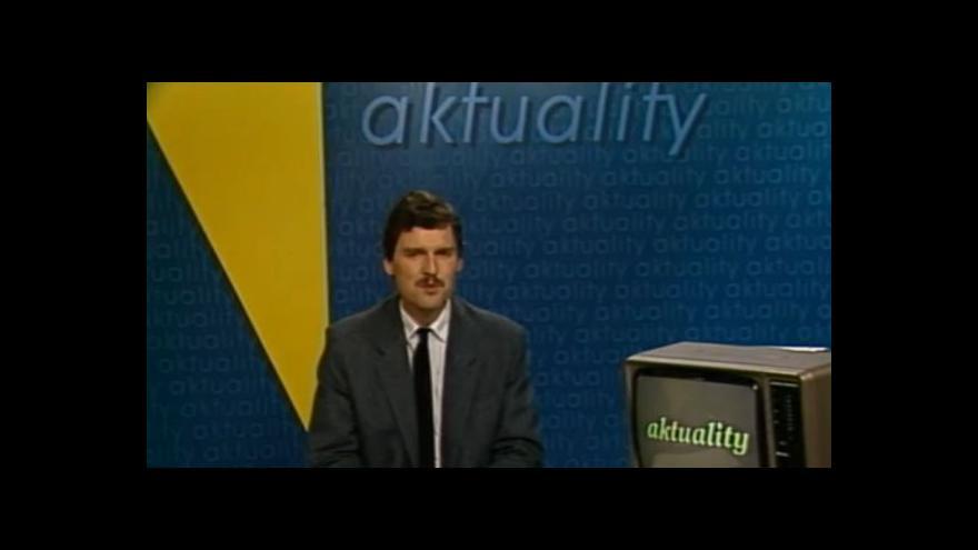Video Aktuality 1989: Jakeš v Červeném Hrádku odpovídal na dotazy související s rozvojem kraje