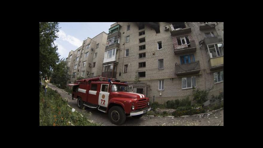 Video Ukrajinská armáda postoupila k Doněcku