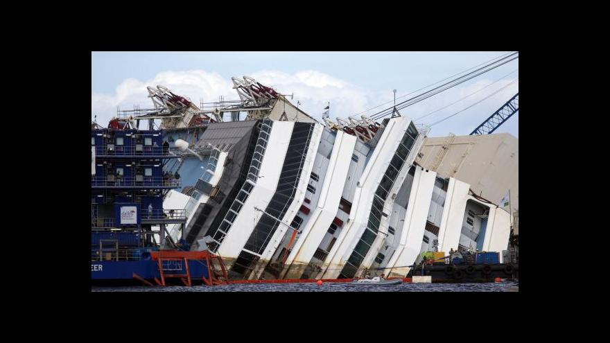 Video Costa Concordia časosběr