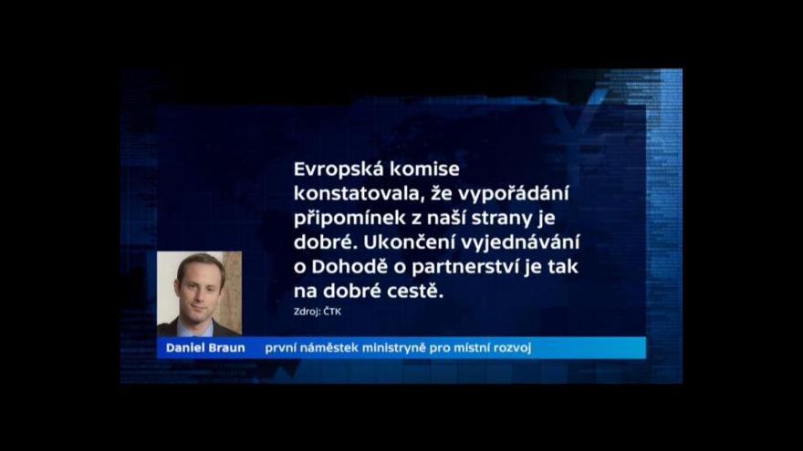 Video Česko řeší s Bruselem výhrady ohledně čerpání dotací