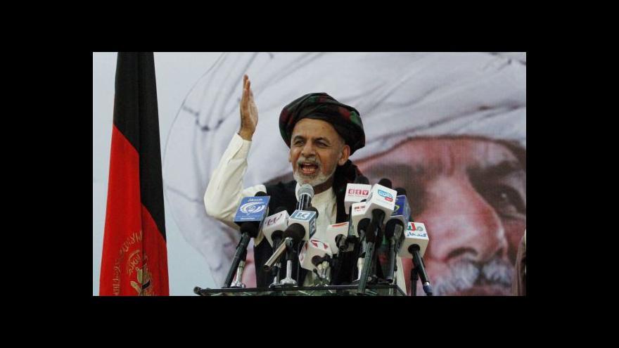 Video Afghánským prezidentem zřejmě bude ekonom Ghaní