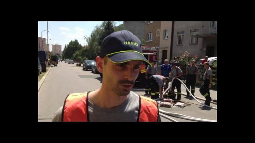 Video O úniku plynu hovoří mluvčí hasičů Jaroslav Mikoška