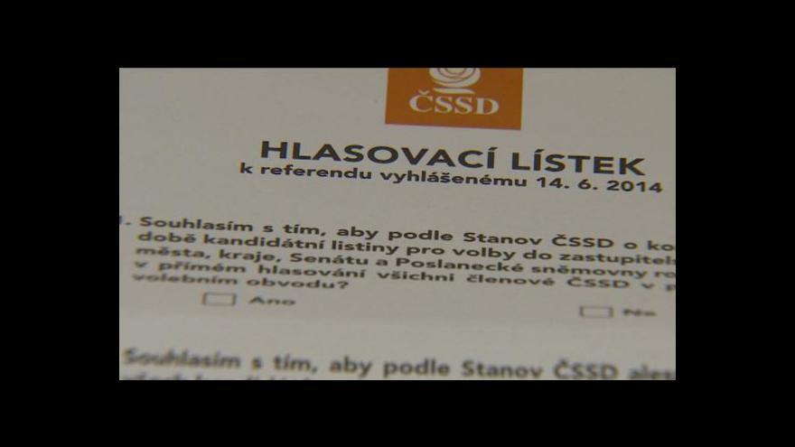 Video Zprávy ve 12: Vnitrostranické referendum v ČSSD