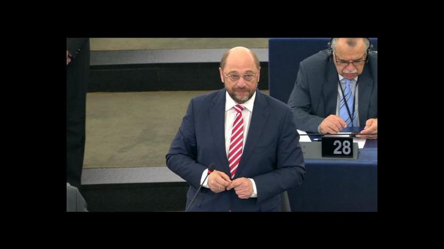 Video Brífink předsedy Evropského parlamentu Martina Schulze