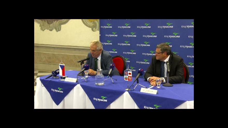 Video Události v regionech: Zeman na Vysočině