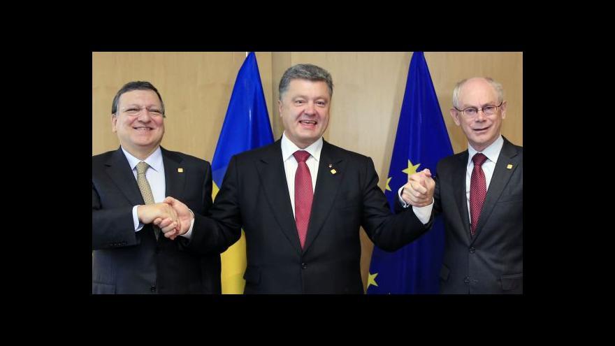 Video Ukrajina podepsala asociační dohodu s EU