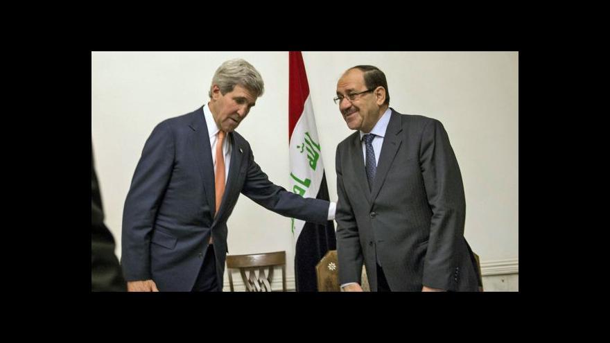 Video Kerry nečekaně přijel do Iráku, jednal s premiérem