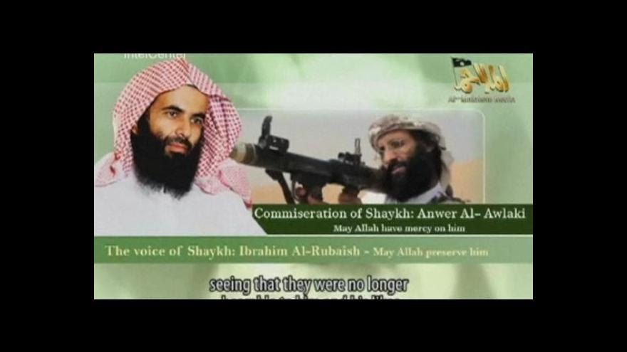 Video Na veřejnost se dostala zpráva o zabití jemenského lídra al-Awlakiho