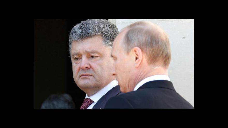 Video Putin uvítal Porošenkovo příměří