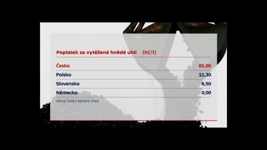 Video Události: Vyšší hornické poplatky